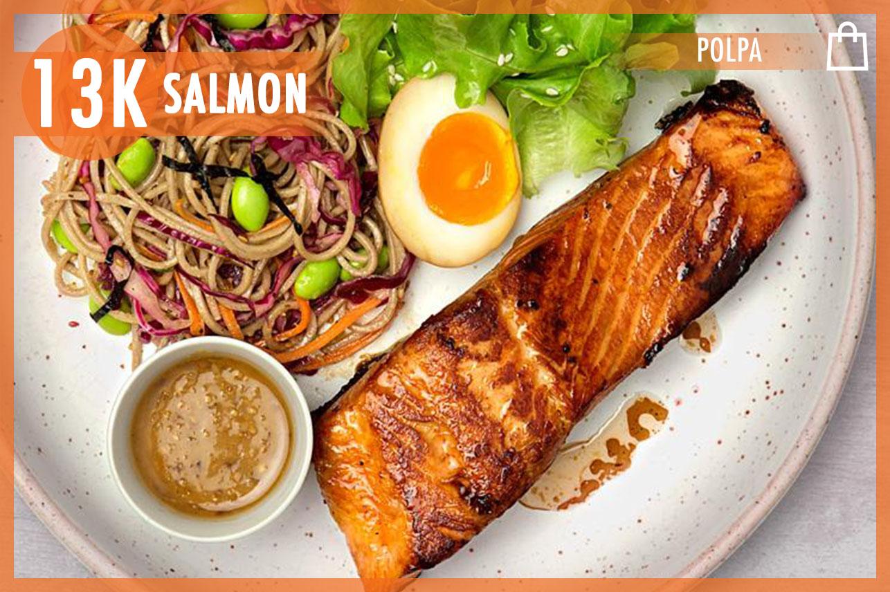 Teriyaki Salmon & Soba