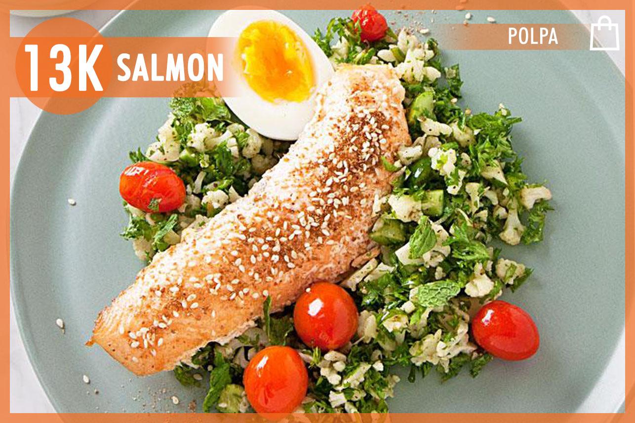 Salmon Cauliflower Tabbouleh
