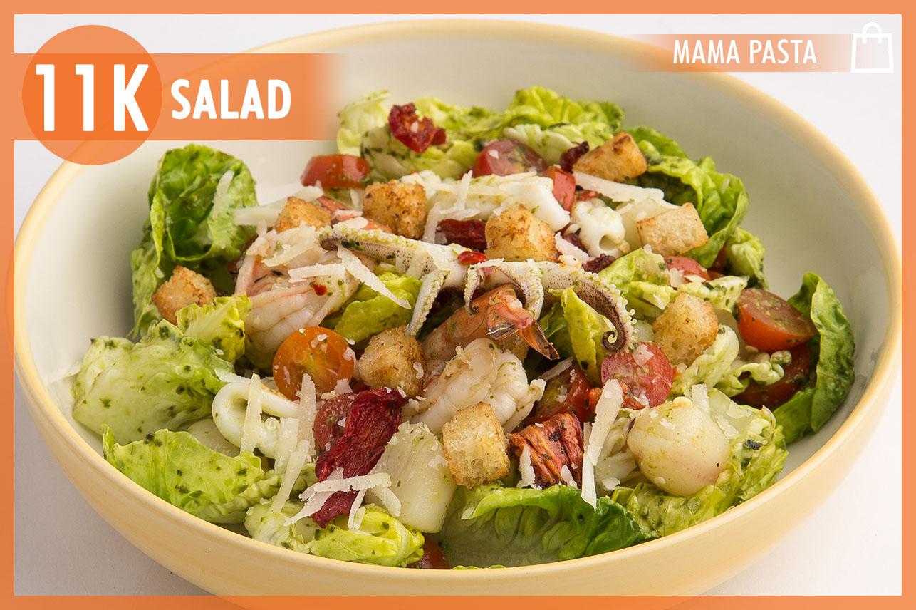 Seafood Salad with pesto sauce