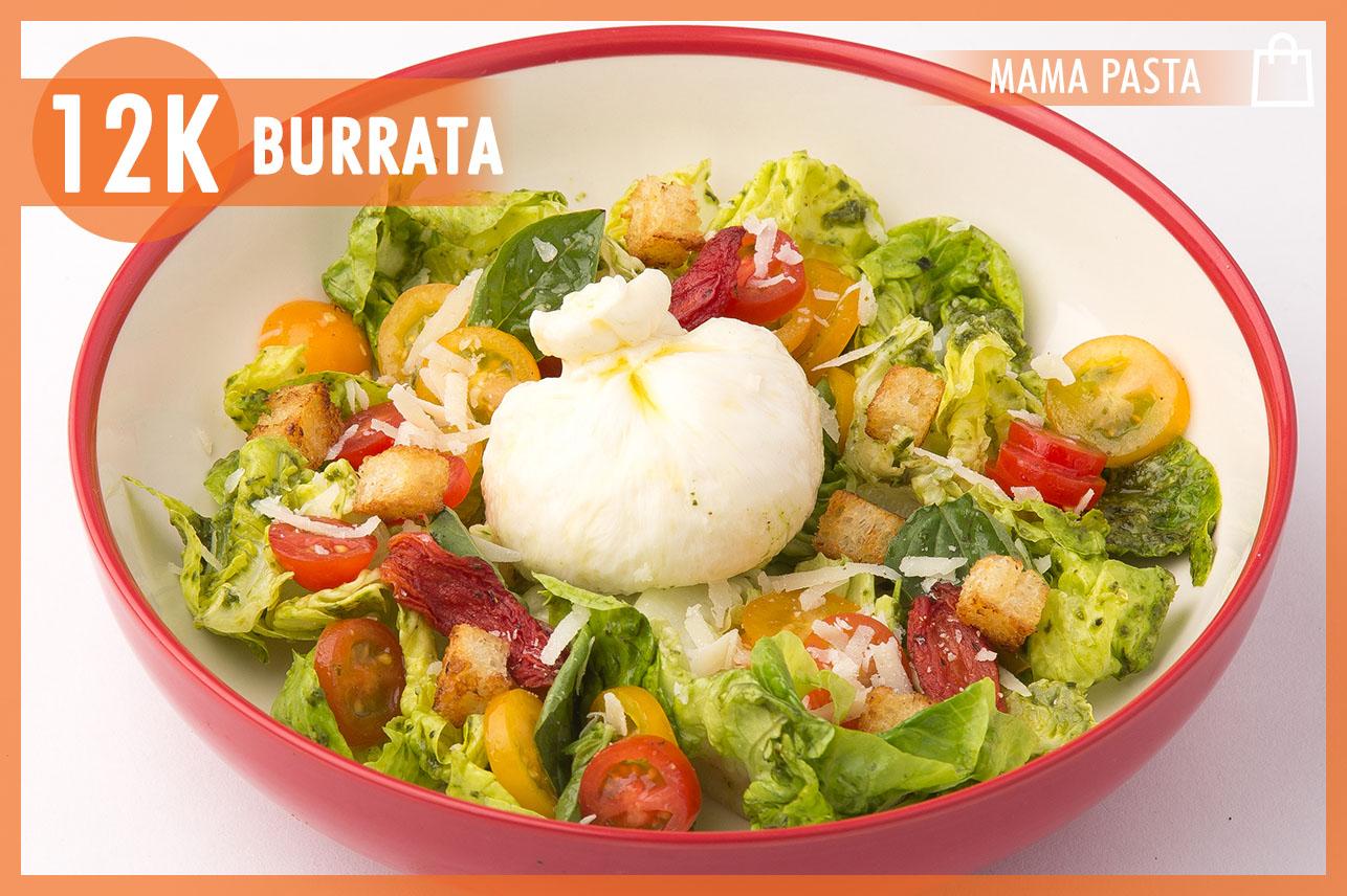 Burratta Salad and pesto sauce