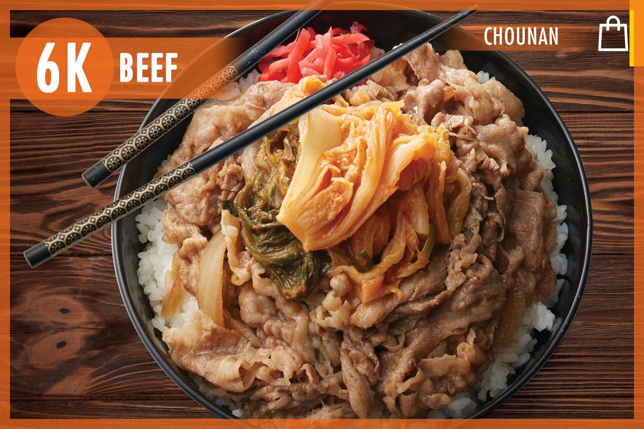 Beef Bowl & Kimchi