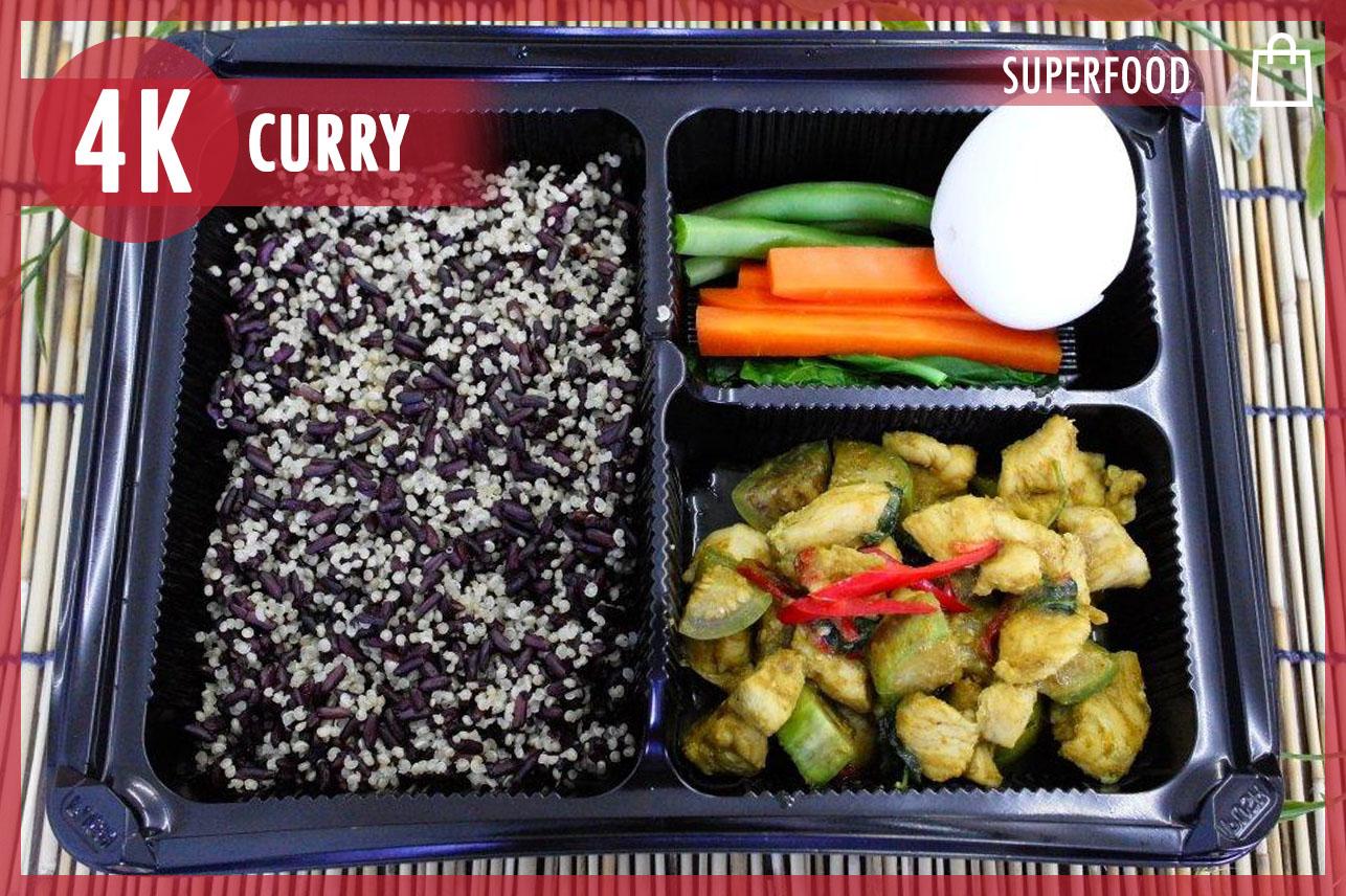 Chicken green curry + Quinoa